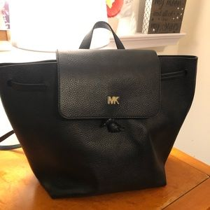 Michael Kors Black Junie Backpack EUC